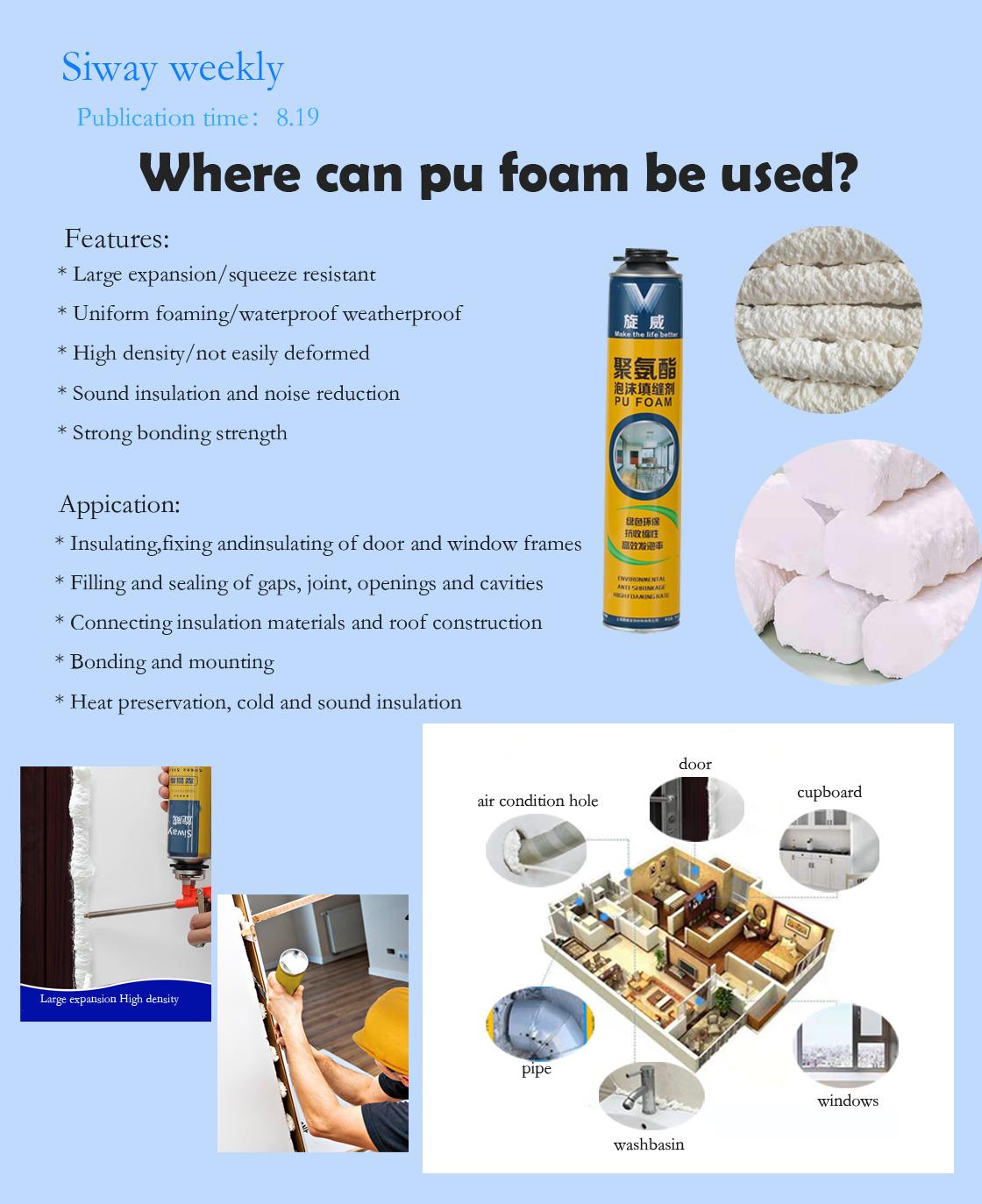 Where can pu foam be used?